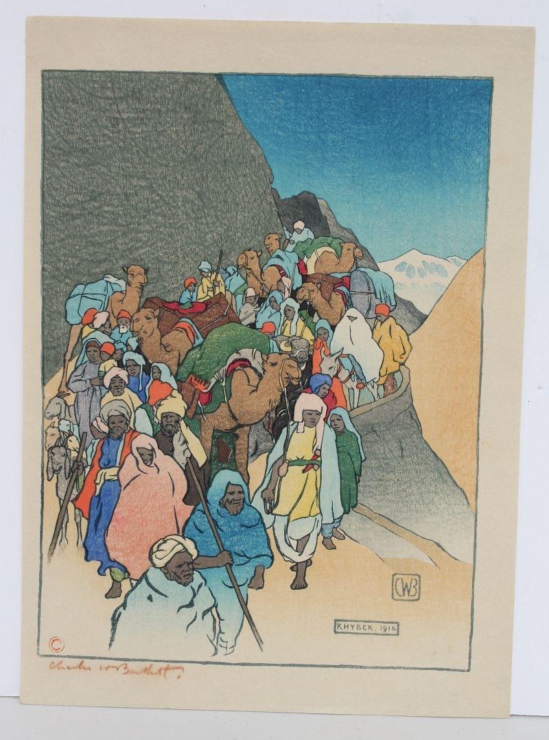 Charles W. Bartlett (1860-1940) woodblock titled