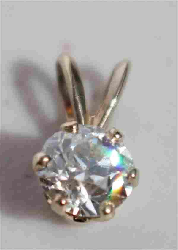 Beautiful .75 ct diamond pendant set in 14k gold
