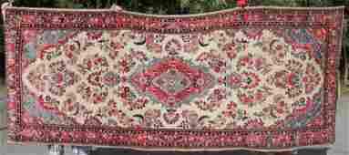 45x111 semiantique Persian Kasvin Oriental rug