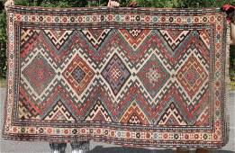 311x68 antique Caucasian Kazak Oriental area rug