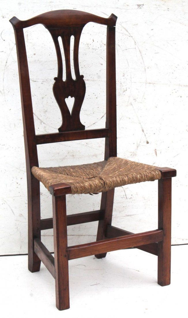 period Chippendale ca 1790 CT maple sidechair w tall