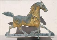 Fine ca 1880 New England copper & zinc prancing horse