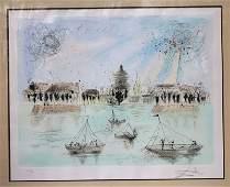 Fine sgnd Salvador Dali hand colored ltd ed etching