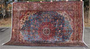"""9'10""""x12'3"""" sgnd semi-antique Persian Mashed Oriental"""