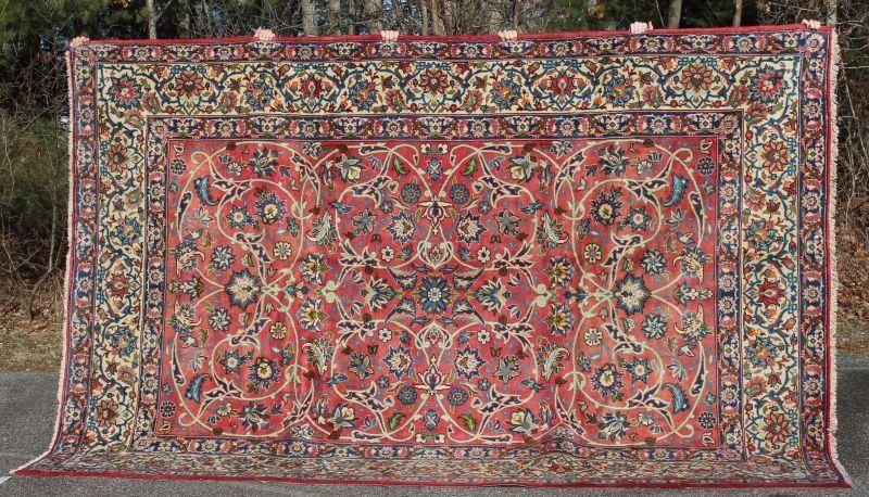 "8'3""x12'1"" semi-antique Persian Isphahan Oriental rm"