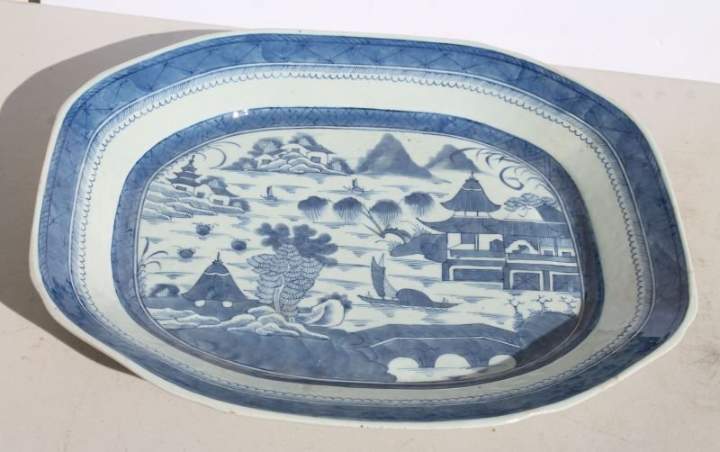 Excellent large ca 1840 Chinese Canton platter - 14