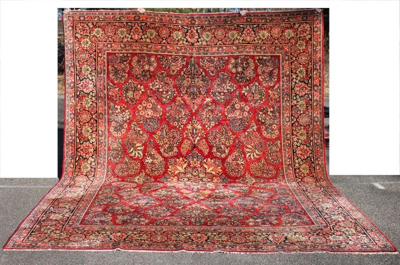 "Fine 10'2""x13'6"" semi-antique Persian Sarouk Oriental"