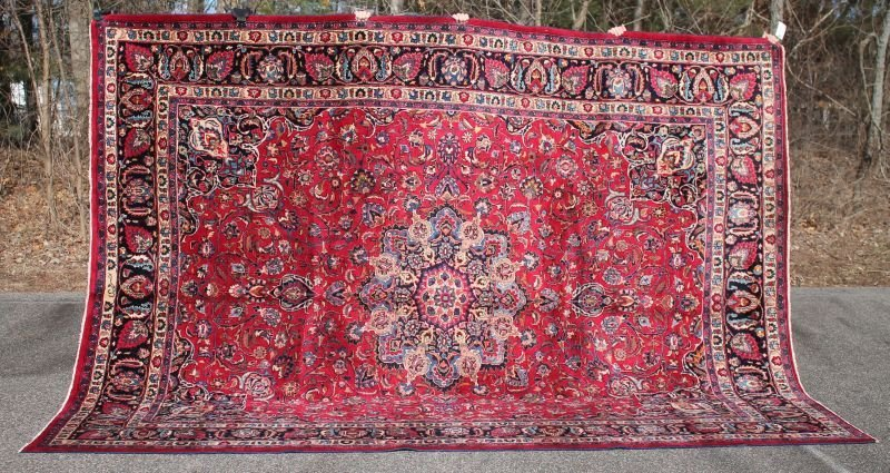 Fine 10'x13' semi-antique sgnd Persian Mashed Oriental