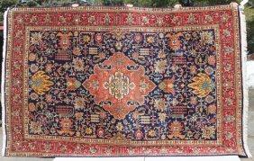 "7'3""x10'10"" Semi-antique Sgnd Persian Tabriz Rm Size"