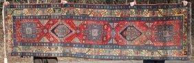 "3'1""x10'3"" Semi-antique Persian Heriz Oriental Corridor"