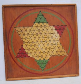 First Quarter 20thc Great Oversized Chinese Checkers