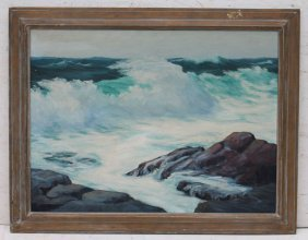 """Alfred Russell Fuller (1899-1980) Very Large 20""""x40"""""""