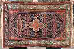 3x5 antique Persian Herati Oriental area rug