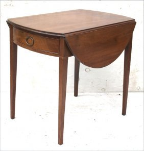 Ca 1780 Nyc 1 Dr Pembroke Table W Orig Molded Top &