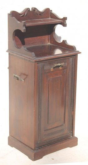 "19thc Vict Carved Mahog Coal Bin - 40"" Tall"