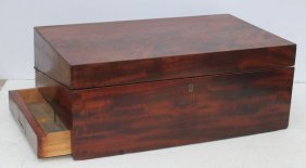 Mid 19thc Large Travelling Desk Possibly For An Officer