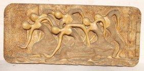 Mid Century Fiberglass Wall Hanging Sculpture Of