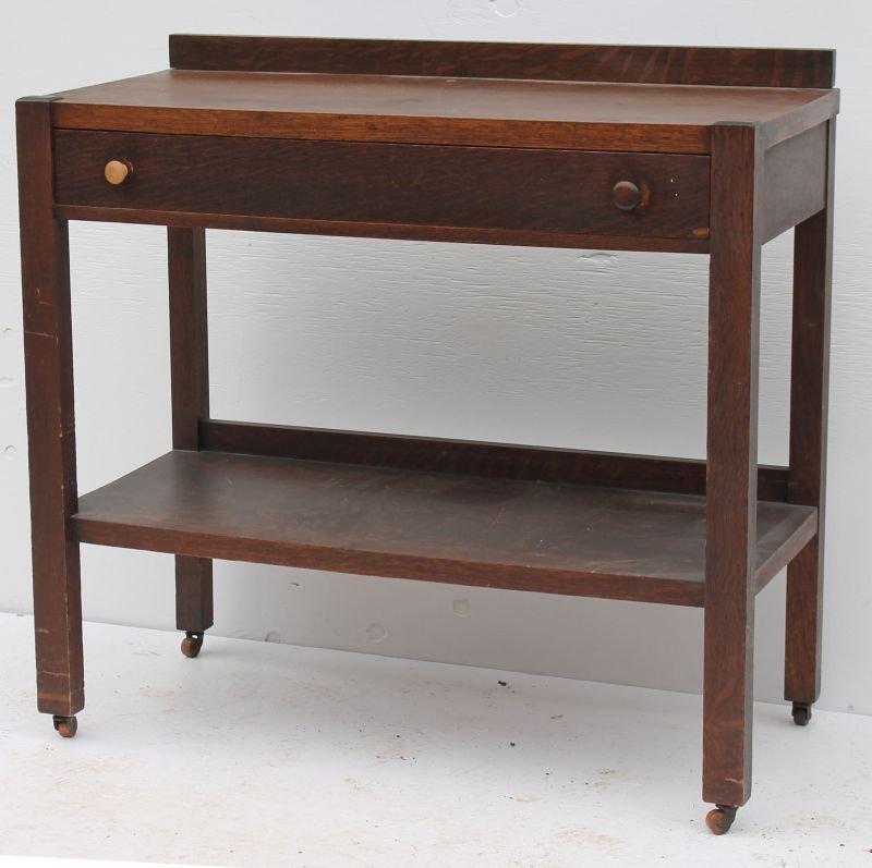 Awesome Vintage Mission Oak Server W Easton Furniture Mfg Co