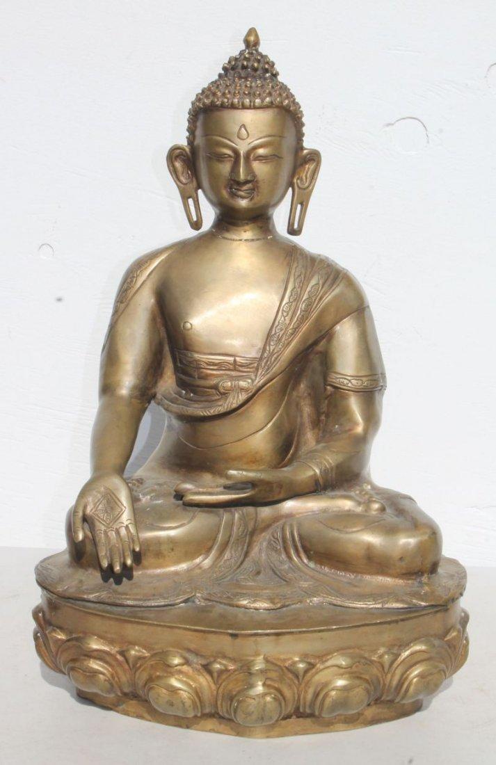 "Brass Buddha Shakyamuni Varada Mudra position - 22 1/2"""