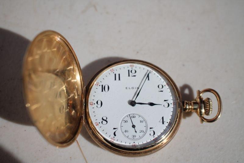 ca 1900 14k gold Elgin pocket watch