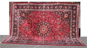 """9'10""""x12'6"""" semi-antique Persian Mashed (sgnd)Oriental"""