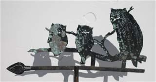 ca 1920 rare sheet brass zinc  iron silhouette form