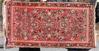 27x5 antique Persian Sarouk Oriental area rug