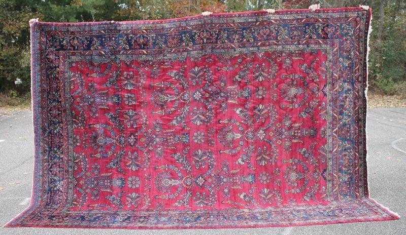"Fine 8'9""x12'2"" Antique Persian Kashan Oriental rm size"