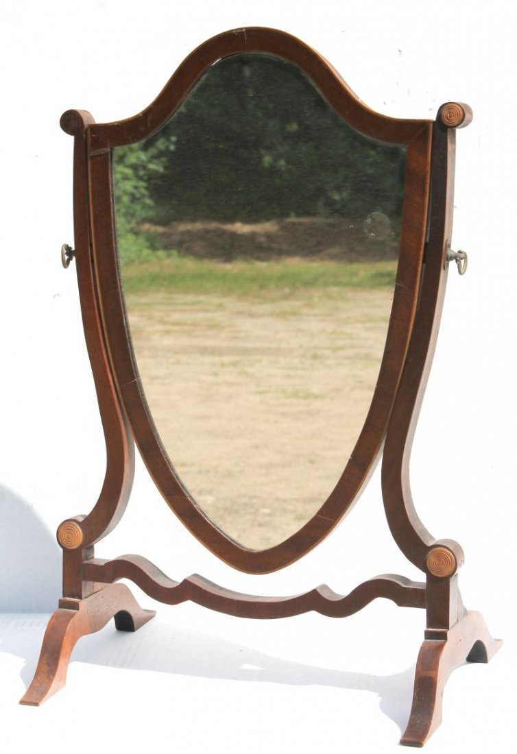 very nice form early 19thC period Federal mahog inlaid