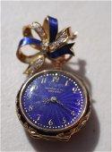 Antique Tiffany 18KT yellow gold ladies diamond and