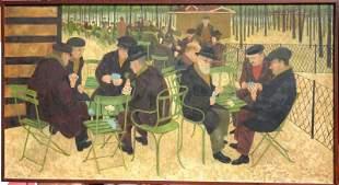"Alfred Daniels (1924 - ) wonderfully graphic 48""x26"""