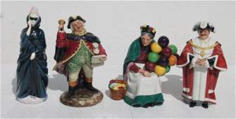 """lot of 4 Royal Doulton figurines - """"The Old Balloon"""