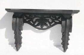 Wonderfully Carved Walnut 19thc Clock Shelf W Acanthus