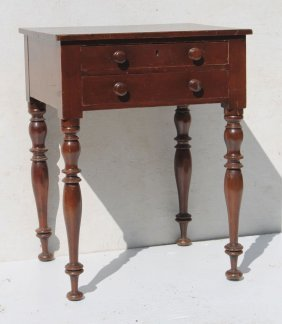 Period Federal Ca 1815 Maple 2 Dr Stand W Wooden Knobs