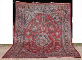 "Fine 9'3""x12'5"" Semi-antique Persian Sarouk Oriental Rm"