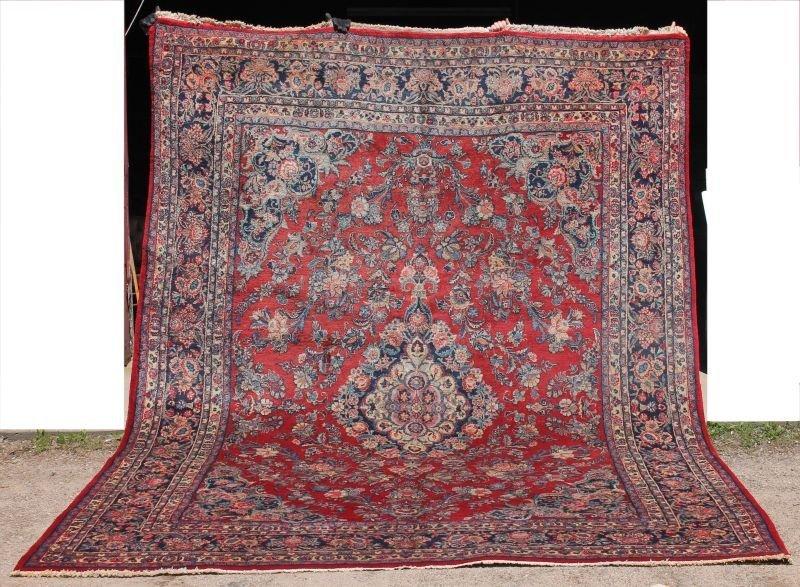 "Fine 9'3""x12'5"" semi-antique Persian Sarouk Oriental rm"