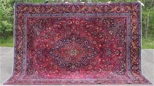 "Fine 9'3""x12' semi antique Persian Mashed Oriental rm"