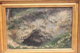 """Attrib Albert Bierstadt (1830-1902) 9 1/4"""" X 14"""" Oil On"""