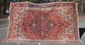 "8'6""x12'2"" Antique Persian Heriz Oriental Rm Size Rug -"