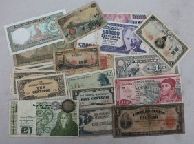 Lot Of Foreign Currency - Mostly Paper