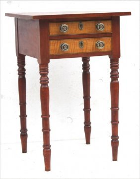 Late Sheraton Ca 1820 Ct Cherry 2 Dr Stand W Tiger