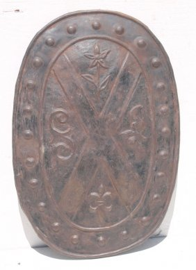 Unusual Late 18th/early 19thc Wrought Iron Armor Shield