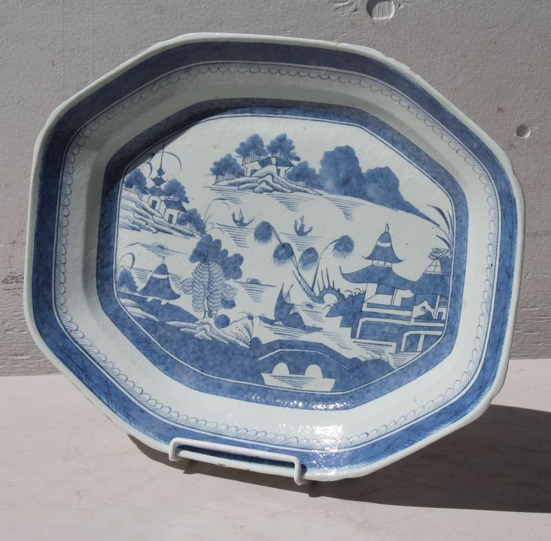 Fine 19thC Canton platter w no cracks or hairlines &