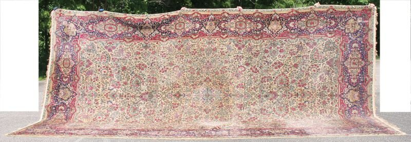 "10'x18'8"" Antique Persian Lavar Kirman ca 1920's"