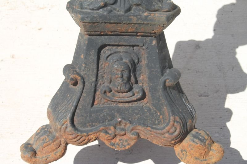 pr of cast iron outdoor used (church) candle stands - - 2