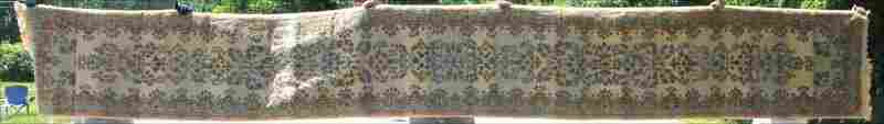 27x196 semiantique Persian Kirman stair runner