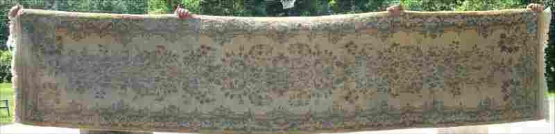 "2'7""x11'5"" semi-antique Persian Kirman Oriental runner"