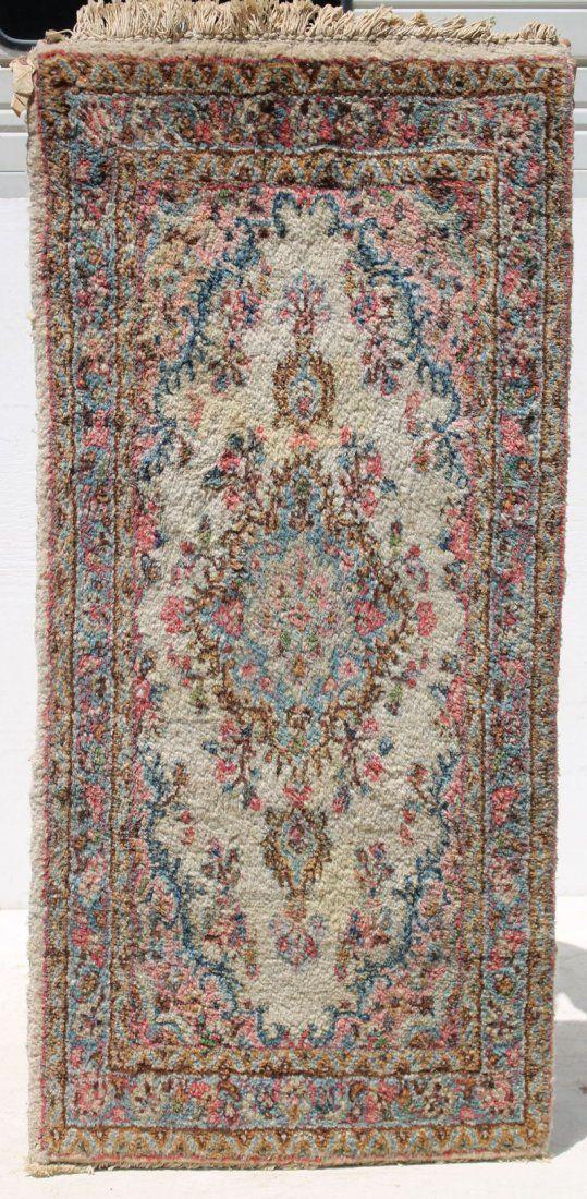 """2'3""""x4'8"""" semi-antique Persian Kirman Oriental small"""