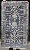 3'x5' Bamboo Silk Hotan Oriental area rug