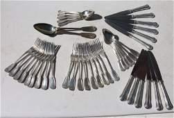 partial serving set of Christofle silver plate flatware